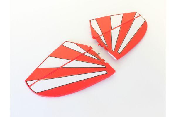 水平尾翼セット レッド(ピッツスペシャル EP1000) A6578-13R
