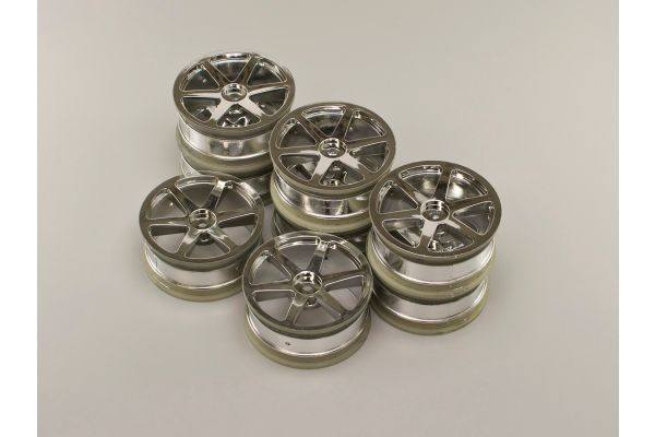 Wheel(6-Spke/24mm/Chrome Plated/8Pcs) AGH001-8SM