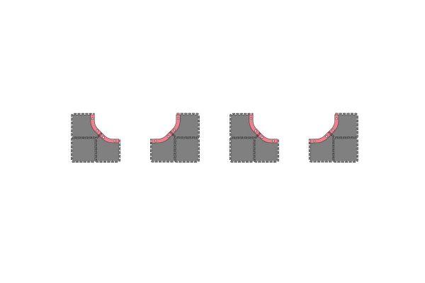 ミニッツグランプリサーキット30 ラージコーナー拡張セット(12pcs)  87031-02