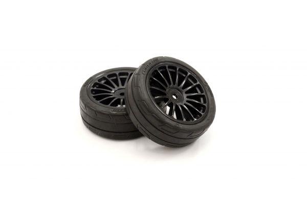 Premounted Tire FZ02(15-Spoke BK/M/2pcs) FATH702BKM