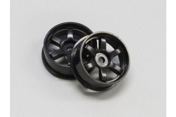 Wheel Set (18/Front/Black/2Pcs/dNaNo) DNH001BK-18F