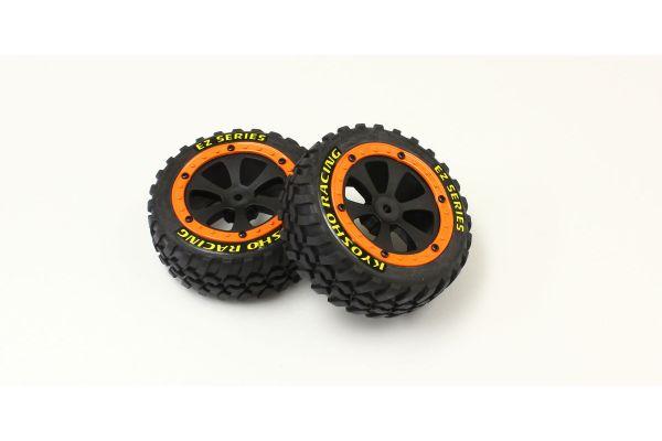 Tire&WheelSet w/Orange Flange(SANDMASTER EZ002OR