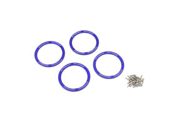 Aluminum Wheel Cover(Blue/4pcs/Sand Mast EZW003BL