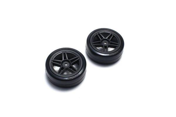 Drift Tire Front(10Spoke/BK/24mm/2pcs) FAT303BK