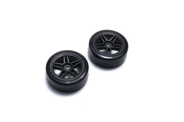 Drift Tire Rear (10Spoke/BK/24mm/2pcs) FAT304BK