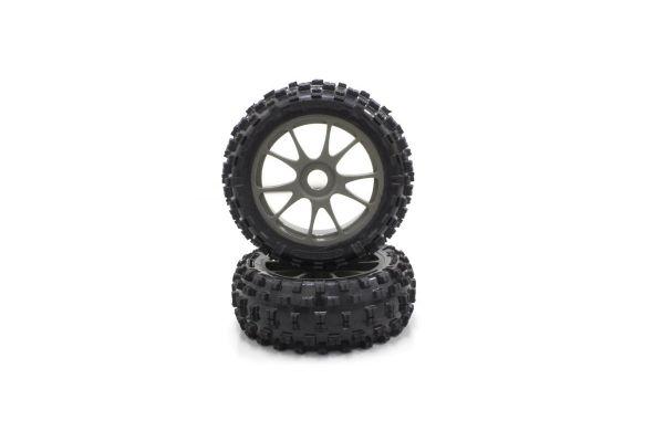 10-Spoke Wheel with Tire(Gunmetal/KC/2pcs) IFTH004GMKC
