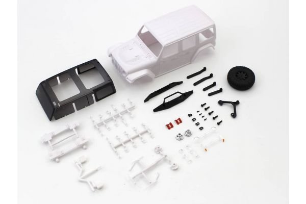 ジープ ラングラー ルビコン ホワイトボディセット MXN01