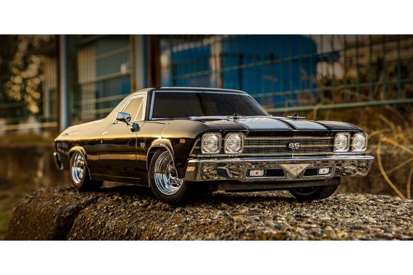 1:10 Scale Radio Controlled Electric Powered 4WD FAZER Mk2 FZ02L 1969 Chevy® El Camino® SS 396® Tuxedo Black 34419T1