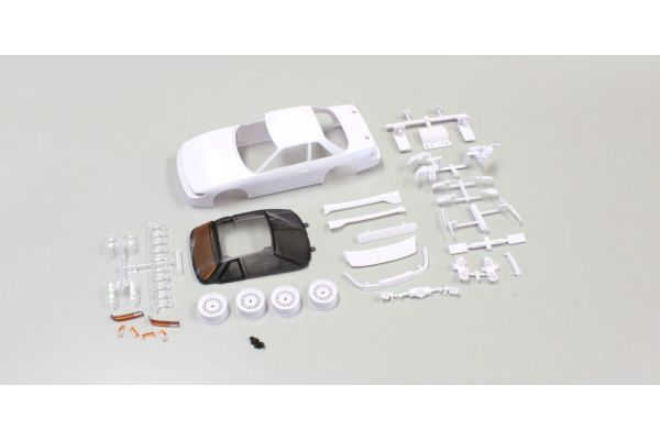 NISSAN SILVIA S13 White body set(w/Wheel MZN178