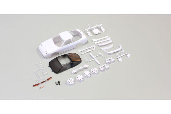 NISSAN 180SX White body set(w/Wheels) MZN179