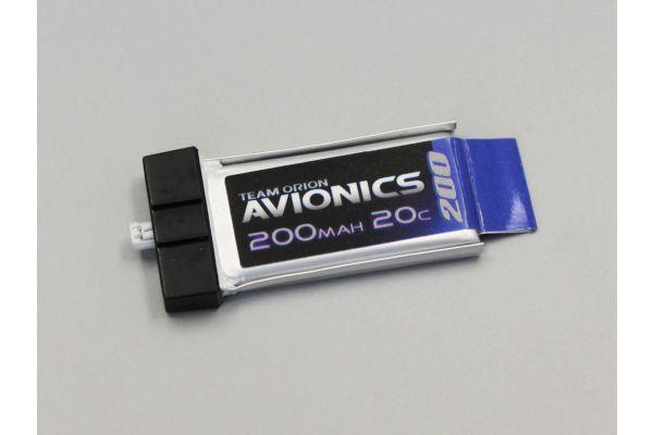 アビオニクス LiPo 200 3.7V(20C)コネクター一体型  ORI60099