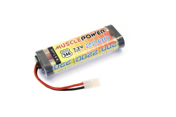 マッスルパワー 2200 7.2V Ni-MH バッテリー  R246-8451B