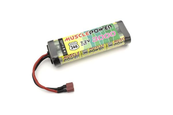 マッスルパワー 3000 7.2V Ni-MH バッテリー/Sプラグ R246-8452S