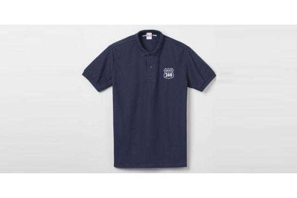 ROUTE246 ポロシャツ ネイビー Lサイズ  R246S-PS-N-L