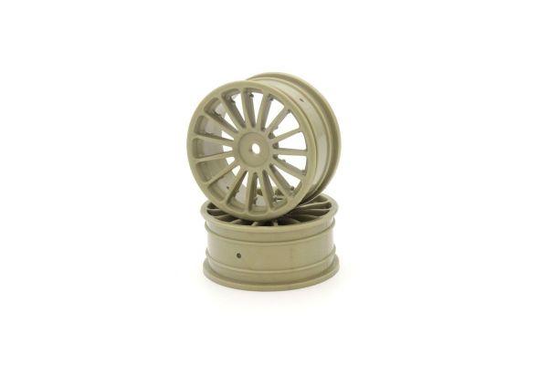 Wheel(15-Spoke/Gold/24mm/2Pcs) VZH003G