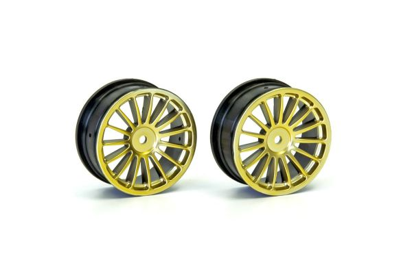 Wheel(15-Spoke/Gold/24mm/2Pcs) VZH003GL