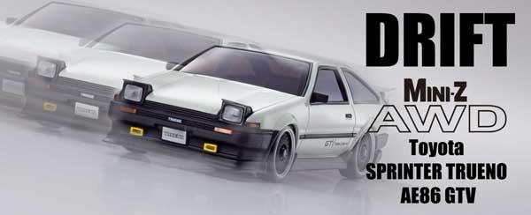 ミニッツAWD トヨタ スプリンター トレノ AE86 GTV