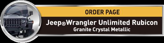 MINI-Z 4X4 Readyset Jeep®︎Wrangler Unlimited Rubicon Granite Crystal Metallic No.32521GM