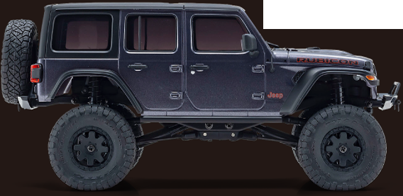 MINI-Z 4X4 Readyset Jeep®︎Wrangler Unlimited Rubicon Granite Crystal Metallic No.32521GM