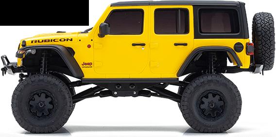 MINI-Z 4X4 Readyset Jeep®︎Wrangler Unlimited Rubicon HELLAYELLA No.32521Y